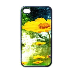 Yellow Flowers Apple Iphone 4 Case (black) by BangZart