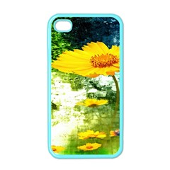 Yellow Flowers Apple Iphone 4 Case (color) by BangZart