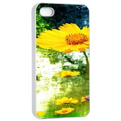 Yellow Flowers Apple Iphone 4/4s Seamless Case (white)