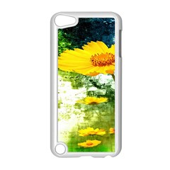 Yellow Flowers Apple Ipod Touch 5 Case (white) by BangZart