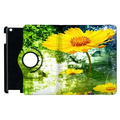 Yellow Flowers Apple Ipad 3/4 Flip 360 Case by BangZart