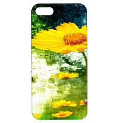 Yellow Flowers Apple Iphone 5 Hardshell Case With Stand by BangZart