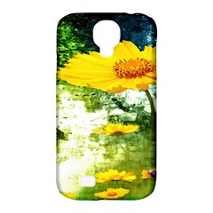 Yellow Flowers Samsung Galaxy S4 Classic Hardshell Case (pc+silicone) by BangZart
