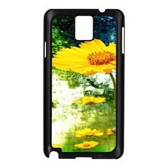Yellow Flowers Samsung Galaxy Note 3 N9005 Case (black)