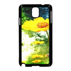Yellow Flowers Samsung Galaxy Note 3 Neo Hardshell Case (black)
