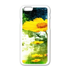 Yellow Flowers Apple Iphone 6/6s White Enamel Case by BangZart