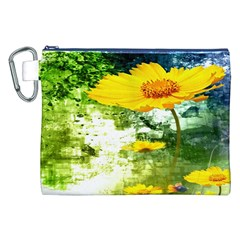 Yellow Flowers Canvas Cosmetic Bag (xxl) by BangZart
