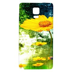 Yellow Flowers Galaxy Note 4 Back Case by BangZart