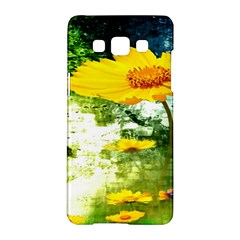 Yellow Flowers Samsung Galaxy A5 Hardshell Case  by BangZart