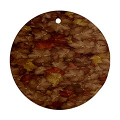 Brown Texture Ornament (round)