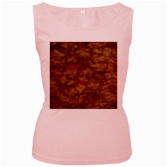 Brown Texture Women s Pink Tank Top