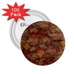 Brown Texture 2 25  Buttons (100 Pack)