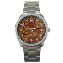 Brown Texture Sport Metal Watch by BangZart