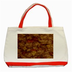 Brown Texture Classic Tote Bag (red)