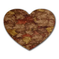 Brown Texture Heart Mousepads