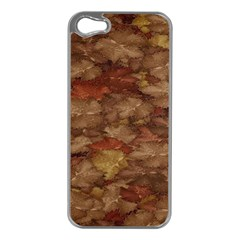 Brown Texture Apple Iphone 5 Case (silver)