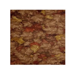 Brown Texture Small Satin Scarf (square)