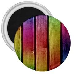 Colourful Wood Painting 3  Magnets by BangZart