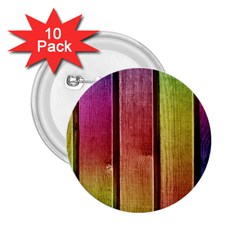 Colourful Wood Painting 2 25  Buttons (10 Pack)  by BangZart