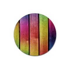 Colourful Wood Painting Magnet 3  (round) by BangZart