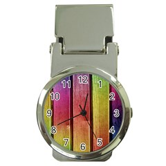 Colourful Wood Painting Money Clip Watches by BangZart