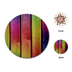 Colourful Wood Painting Playing Cards (round)  by BangZart