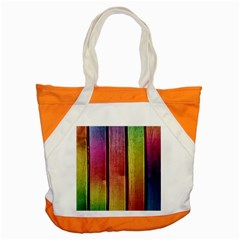 Colourful Wood Painting Accent Tote Bag by BangZart