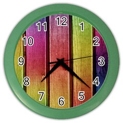Colourful Wood Painting Color Wall Clocks