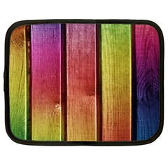 Colourful Wood Painting Netbook Case (large)