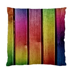 Colourful Wood Painting Standard Cushion Case (two Sides) by BangZart