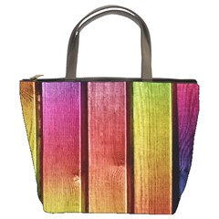 Colourful Wood Painting Bucket Bags