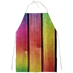 Colourful Wood Painting Full Print Aprons