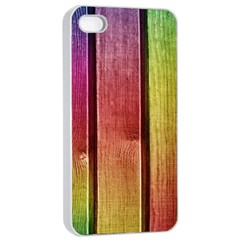 Colourful Wood Painting Apple Iphone 4/4s Seamless Case (white) by BangZart
