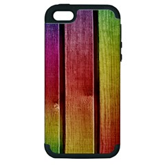 Colourful Wood Painting Apple Iphone 5 Hardshell Case (pc+silicone) by BangZart
