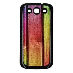Colourful Wood Painting Samsung Galaxy S3 Back Case (black)