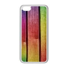 Colourful Wood Painting Apple Iphone 5c Seamless Case (white) by BangZart