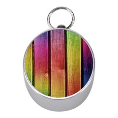 Colourful Wood Painting Mini Silver Compasses by BangZart