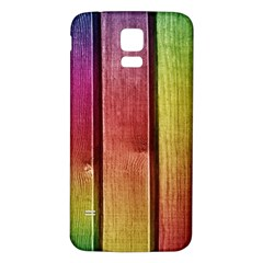 Colourful Wood Painting Samsung Galaxy S5 Back Case (White) by BangZart