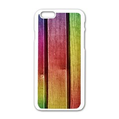 Colourful Wood Painting Apple Iphone 6/6s White Enamel Case by BangZart