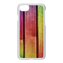 Colourful Wood Painting Apple Iphone 7 Seamless Case (white)