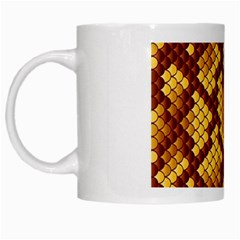 Snake Skin Pattern Vector White Mugs
