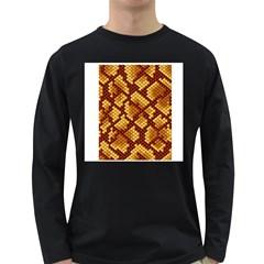 Snake Skin Pattern Vector Long Sleeve Dark T Shirts