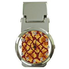 Snake Skin Pattern Vector Money Clip Watches by BangZart