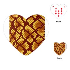 Snake Skin Pattern Vector Playing Cards (heart)