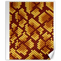 Snake Skin Pattern Vector Canvas 8  X 10  by BangZart