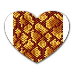 Snake Skin Pattern Vector Heart Mousepads