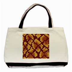 Snake Skin Pattern Vector Basic Tote Bag (two Sides) by BangZart