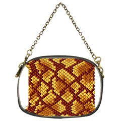 Snake Skin Pattern Vector Chain Purses (two Sides)  by BangZart