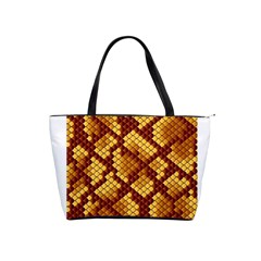 Snake Skin Pattern Vector Shoulder Handbags by BangZart