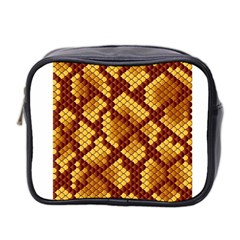 Snake Skin Pattern Vector Mini Toiletries Bag 2 Side